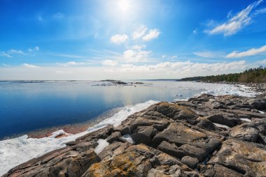 Coast of Baltic sea in early spring