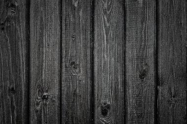 Black wood planks