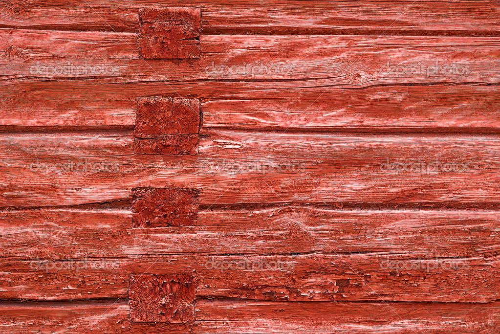 rojo viejo muro de madera de madera con la pintura de grunge u foto de steho