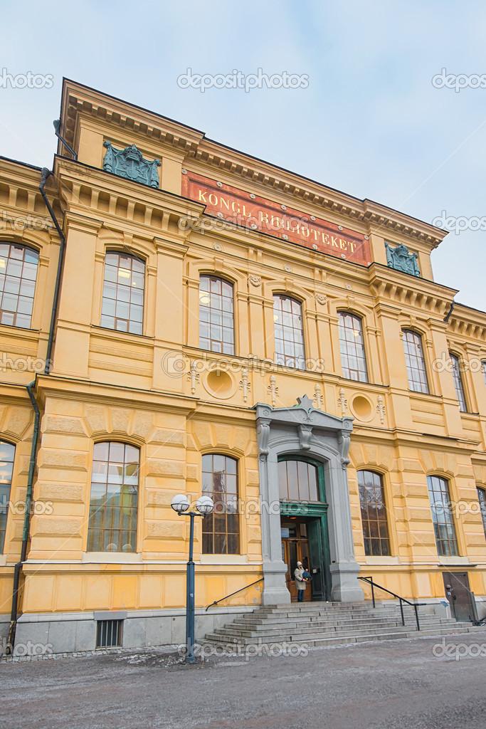 La Biblioth Que Royale Dans Le Centre De Stockholm Photo