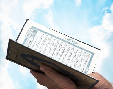 Hand with Pocket Quran