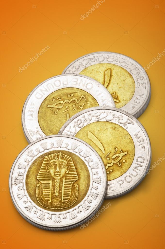 ägyptische Ein Pfund Münzen Stockfoto Midosemsem 13270554