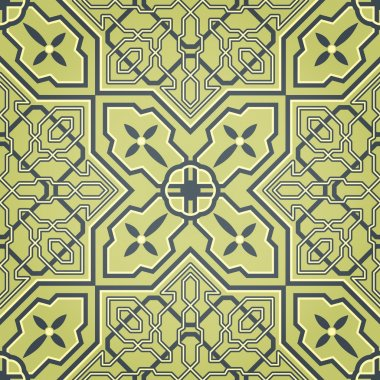 Artistic Green Seamless Pattern