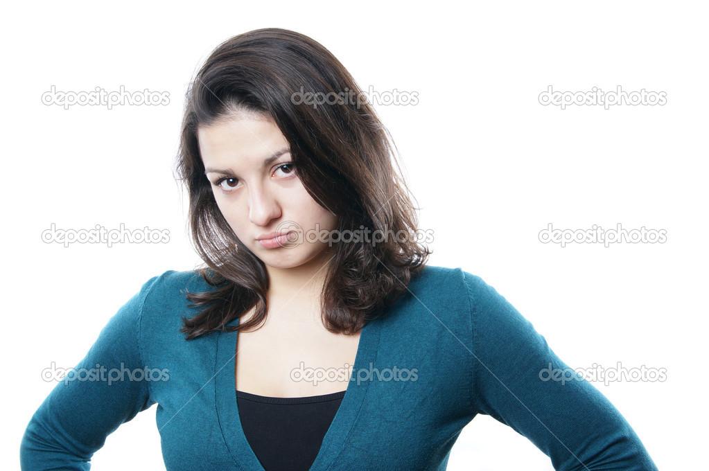 Resultado de imagen para una mujer con mal humor joven