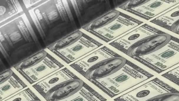 Offset Printing US dollar banknotes (100 dollar bill sheet)