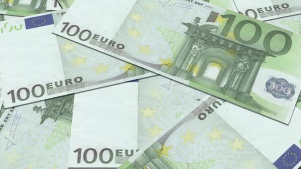 100 euro banknotes in a row.