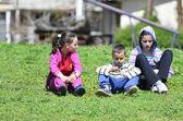 děti v parku na jaře