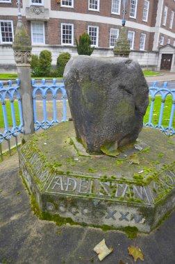 Famous king pronounciation stone in Kingston, London