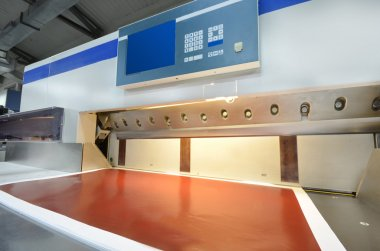 Modern paper guillotine with touch screen