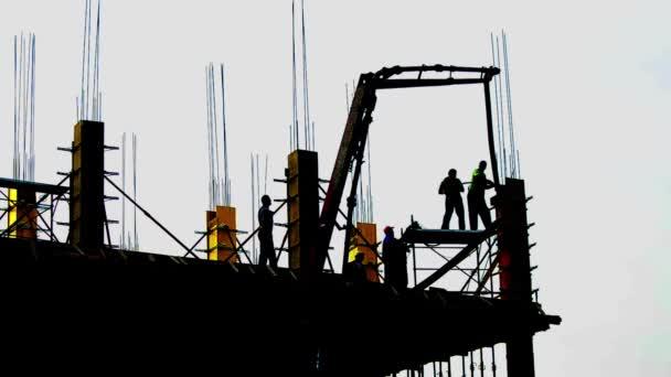 místo stavby rozvoj lešení na mrakodrap, průmysl