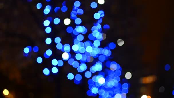 kék lassan mozgó fények háttér