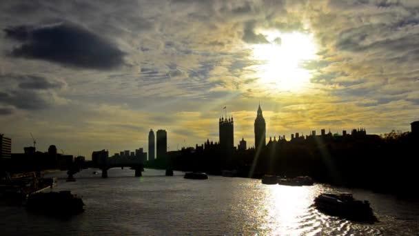London Panorama při západu slunce
