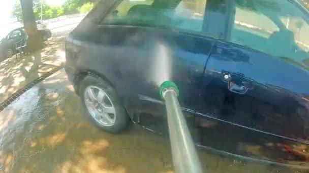 Manual Car Water Jet Washing — Stock Video © ze #48977115