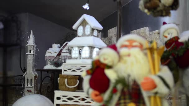Santa claus  vánoční osvětlení domu