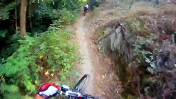 Downhill on mountain bike