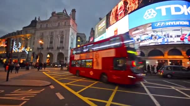 People at Piccadilly Circus in London