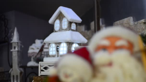 Santa Claus  Christmas house light