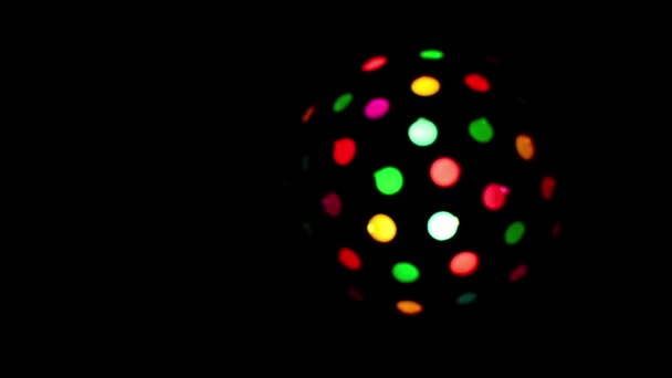 Disco light ball rotating at dark