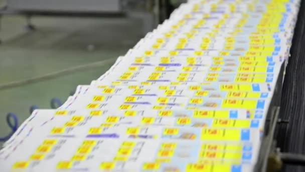 Web Offset Printing Press Folding a Daily Newspaper