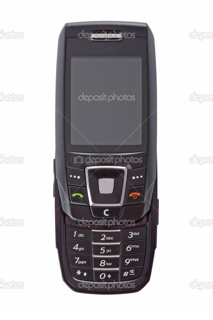 Aprire Il Telefono Cellulare Multimediale Moderno Isolato Su Sfondo