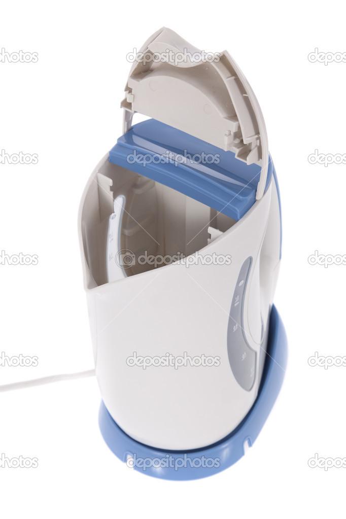 Moderne Wasserkocher moderne wasserkocher isoliert auf weißem hintergrund stockfoto