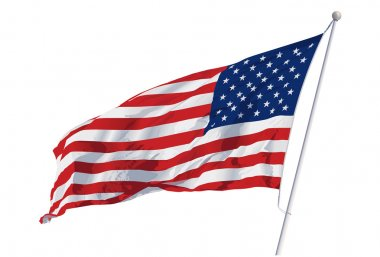 Vector American flag isolated on a white background