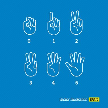 Hands, finger and numbers