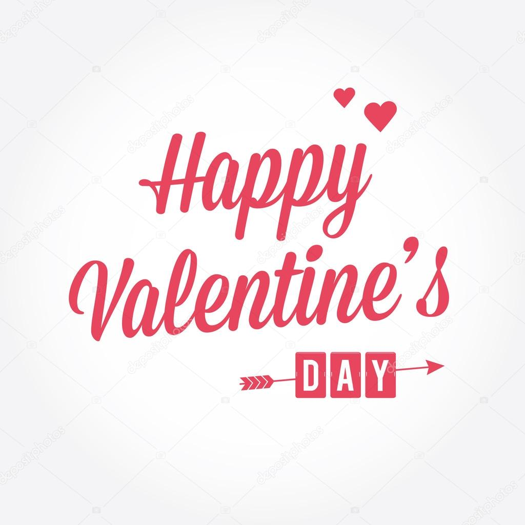 Happy Valentines Day Card Type Text Editable Vector Stock