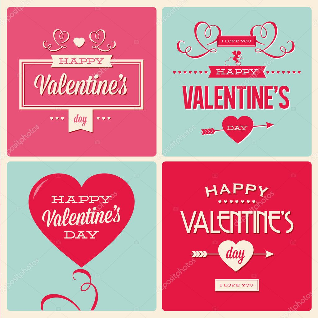 Set of valentines day card design Vector thecorner 17857049 – Valentines Day Cards Design