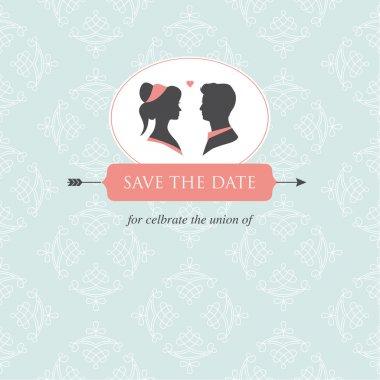 Wedding invitation card template editable