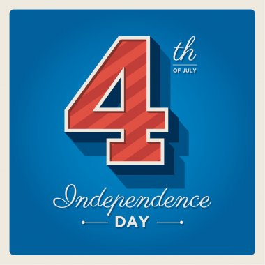 Independence day cards United States of America, 4 th of July, with fonts