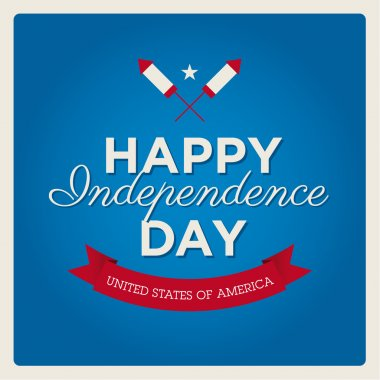 Happy independence day cards United States of America, 4 th of July, with fonts, flag, map, signs and ribbons