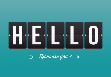 Hello, mechanical panel letters. Typography, font, type vector vintage retro.
