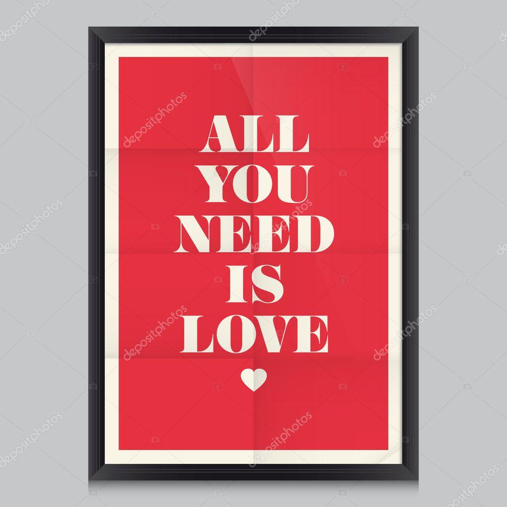 Liebe Zitat poster — Stockvektor © thecorner #27235793