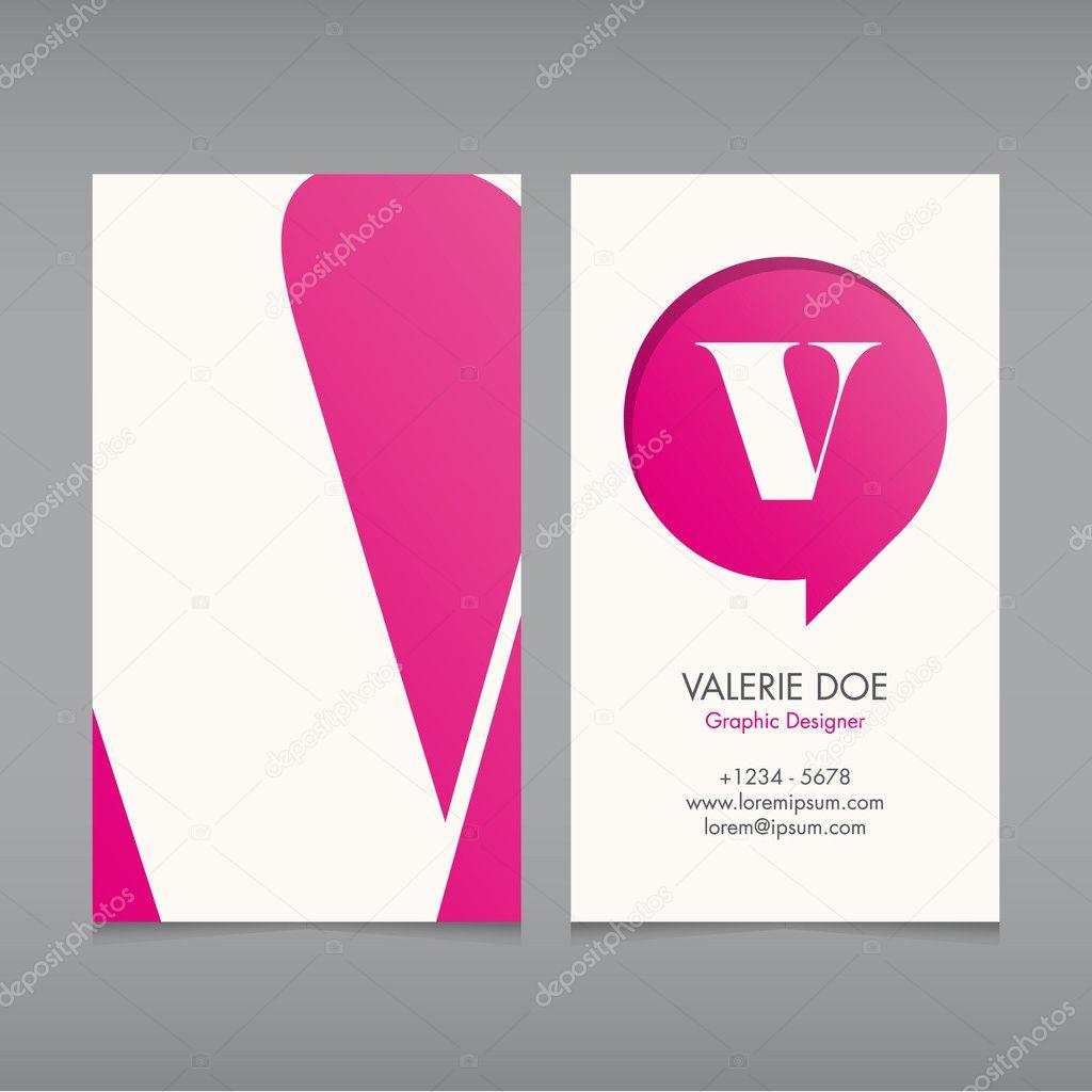 Modele Vectoriel De Carte Visite Lettre Lalphabet Couleur Texte Modifiable Polices Type Modern Vintage Retro Typographie Ideal Pour