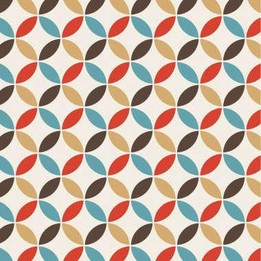 Seamless pattern background retro vintage design