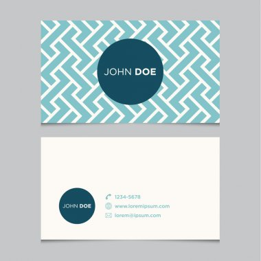 Business card template pattern, vector design editable clip art vector