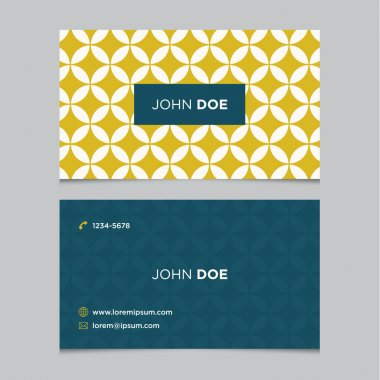 Business card template pattern