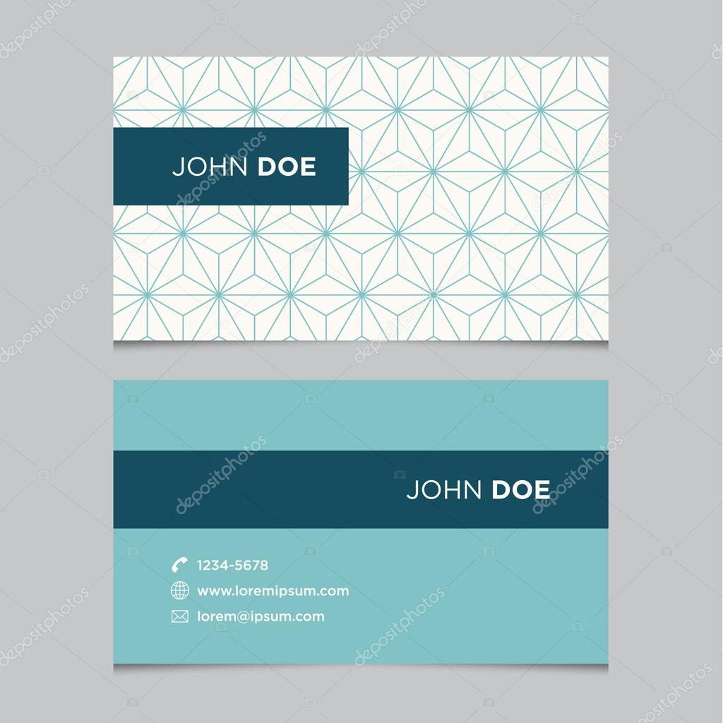 Business card template pattern — Stock Vector © thecorner #33406617