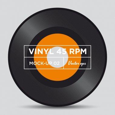 Vinyl record 45 RPM mock up