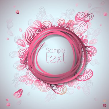 Abstract bubble vector illustration background.