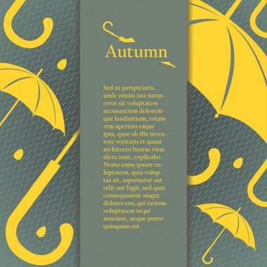Flyer, brochure or cover design with autumn design elements.