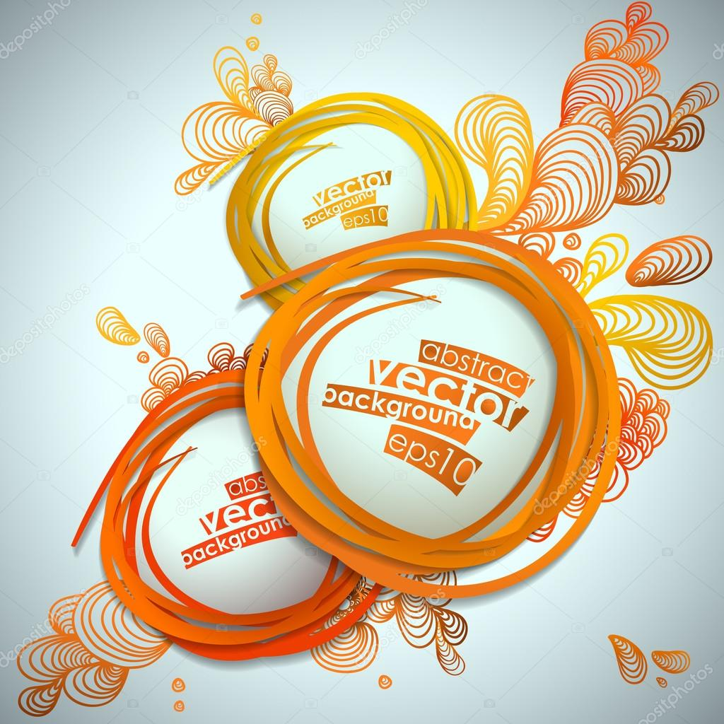 Abstract bubble vector illustration background. — Stock ...