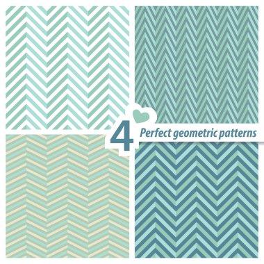A set of 4 perfect seamless Zig zag patterns.