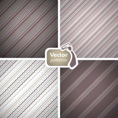 Set of 4 stylish seamless masculine patterns.