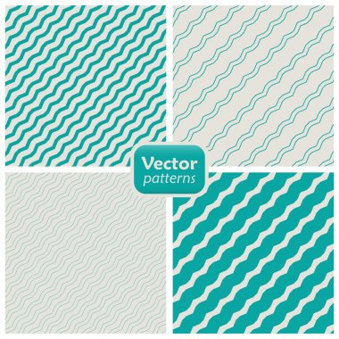 A set of 8 striped patterns. Seamless vectors.