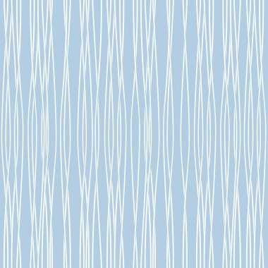 Perfect abstract seamless pattern, blue vector waves.