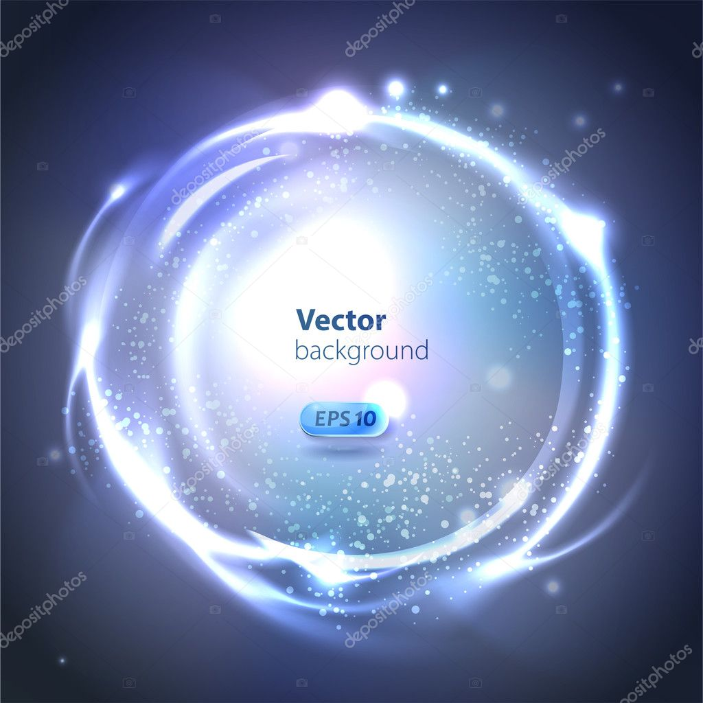 Vector Glossy Sphere. Abstract Background