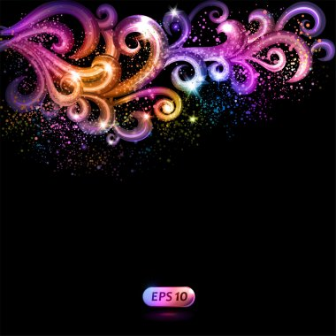 Abstract vector background with colorful swirls.