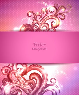 Glamour vector background with vintage design elements. Brochure